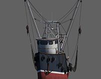 Cartoony Fishing Boat