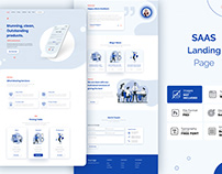 SAAS landing page website template.