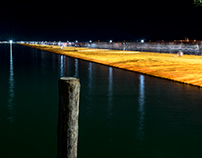 The Floating Piers by Night