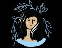 gentle woman digital pen illustration