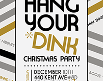 Christmas Party Invite. Graphic Design.