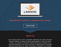 Lawson Website Mock Up Design