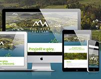 Pod Trzema Koronami - website for mountain resort