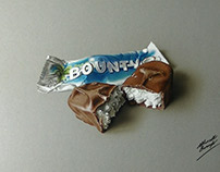 Drawing of a Bounty bar