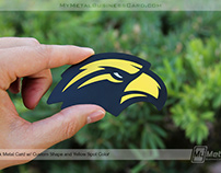 Metal Business Card for Southern Miss Football Coach