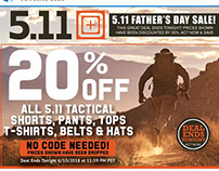 5.11 Father's Day Sale | Email Marketing Design