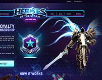 Heroes of The Storm Web Site