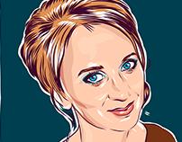 Kate — vector portrait