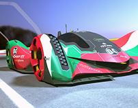 Racing Car Concept LMP Electric REVOLT on track