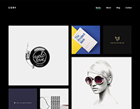 Freebie Cory Minimalist Portfolio WordPress Theme