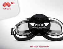 Mtel PILOT leadership program logo and branding design