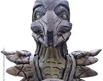 Desarrollo busto Reptile Mortal Kombat XL