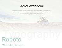 """""""AqroBazar.com"""" website design"""