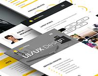 Personal Mobile Web Template Design