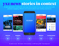 Next-Generation News App: Stories in Context, USC 2018