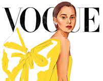 Illustration of the Vogue Spain May 2019 cover