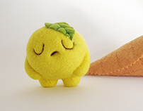"""Scoopsie Lemon"", ice cream scoop Art Toy"