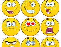 Funny Yellow Cartoon Emoji