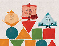 King of Shapes - Children book illustration