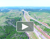 Aerial Drone View of i35-Oklahoma