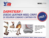 Newsletter designs for Captain Fix