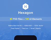 Hexagon - Mobile Form UI kit