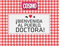 Campaña !Bienvenida al pueblo doctora!