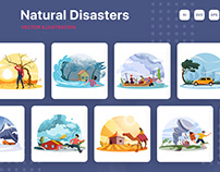 Natural Disasters Illustrations