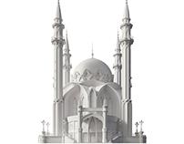 The Kul Sharif mosque 3D model