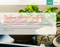 Italian home cooking - website concept
