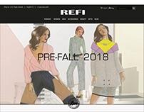 Pre Fall 2018 E-Commerce Mock Web Layout