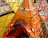 FieldCandy Gingerbread House teepee tent