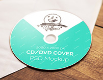 "CD & DVD Cover Mockup ""A"""