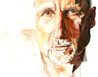 Watercolor//Colored Pencil Portraits