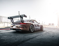 Bahrain GT3 Cup racing cars