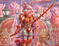 The guard of the rose garden