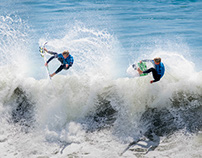 Surfer Action (Stitched)