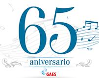 Diseño 65 aniversario gaes