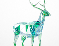 Free 3d model - Emerald deer