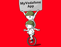 splash screen animated GIF for Vodafone India APP