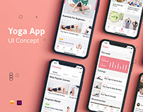 Yoga Fitness Mobile App UI Kit