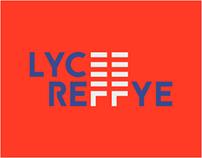 Identité visuelle Lycée Reffye à Tarbes