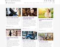 Blog Masonry Page - Salon WordPress Theme