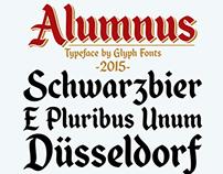 Alumnus typeface (Glyph Fonts)