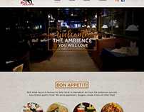 Web development for a steak house restaurant