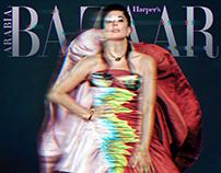 Nadine Labaki for Harper's Bazaar Arabia, October 2019.