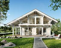 Velesa - half-timbered houses