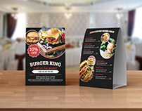 Burger Menu Table Tent