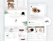 Coffee Shop Landing Page UI Concept 2019