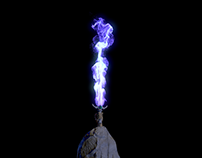 Energy explosion from the sword.